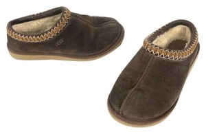 UGG Cozy Pattern Twisted House Brown Cream Mules