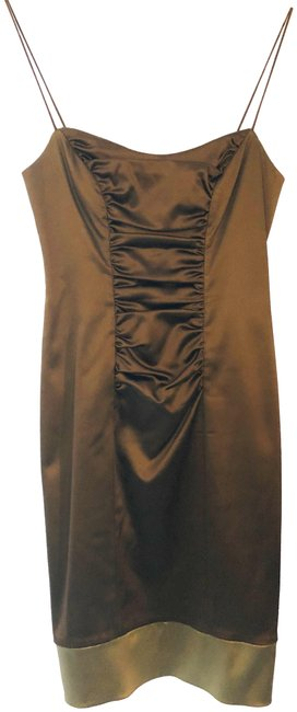 Item - Brown and Champagne Collection Short Formal Dress Size 6 (S)