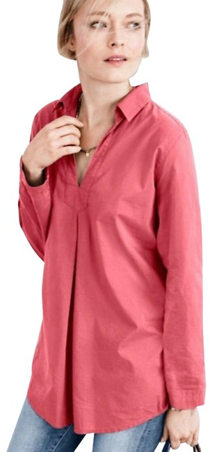 Item - Pink Small Womens Cotton Washed Tunic Size 4 (S)