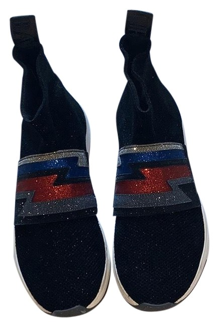 Item - Black/ Red/Blue/Silver Glittered Sneakers Size EU 39 (Approx. US 9) Regular (M, B)