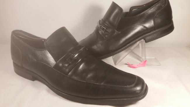 Item - Black W/ Silver Buckle Leather Men's Classic Dress Loafer 11.5m Shoes