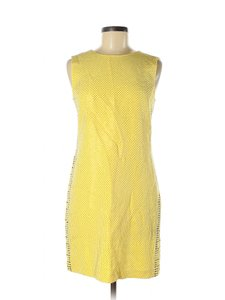 Versace for H&M short dress Yellow Gold Studded Silk Party on Tradesy