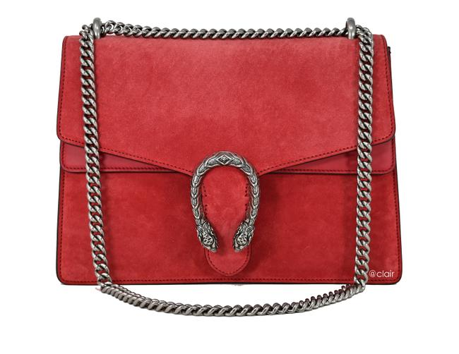Gucci Dionysus Medium Vulcanic Red Suede Shoulder Bag Gucci Dionysus Medium Vulcanic Red Suede Shoulder Bag Image 1