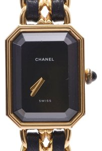 Chanel Chanel Premiere M Size Black Dial Ladies GP Leather Quartz Watch CHANEL