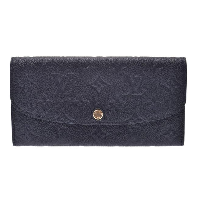Item - Beige / Black Long Monogram Unplant Portfoil Emily M62369 Unisex Leather Wallet