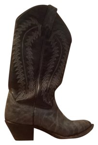 Justin Boots navy blue leather Boots