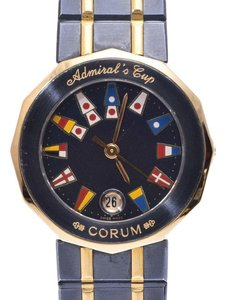 Corum Corum Admirals Cup Gun Blue Navy Dial Ladies YG SS Quartz Watch CORUM
