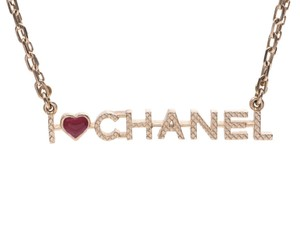 Chanel Chanel Necklace I LOVE 17-year model Ladies GP