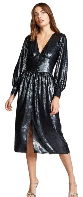 Item - Black Kyria B Caviar Sequins Midi Mid-length Casual Maxi Dress Size 4 (S)