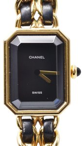Chanel CHANEL Chanel Premiere XL Size H0001 Ladies GP Leather Watch Quartz