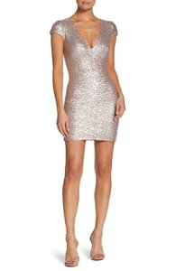 Dress the Population Cap Sleeve Top Silver