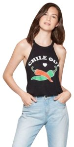 Modern Lux Modern Lux Women's Chile Out High Neck Graphic Tank Top - Black- Small