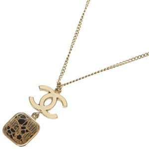 Chanel Chanel Cocomark Gold Necklace Metal 0136 CHANEL Ladies