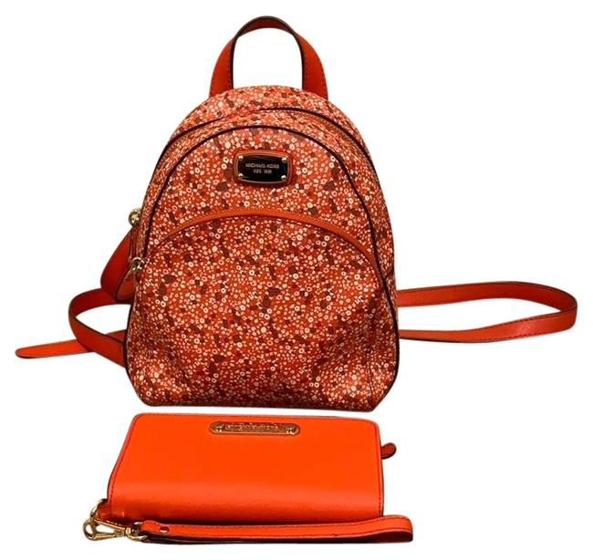 Item - Abbey and Matching Wallet Red Multi Backpack