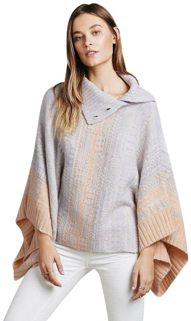 Item - Cream New Willow Sweater X-small Combo Poncho/Cape Size 2 (XS)