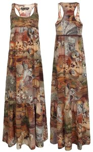 Brown Burnt Coral Maxi Dress by AllSaints