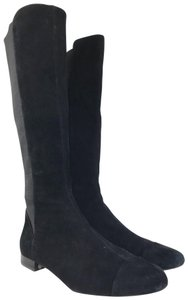 Tory Burch Suede Orsay Black Boots