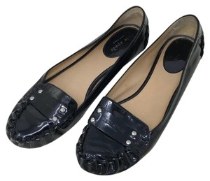 Kate Spade Patent Leather Driving Black Flats