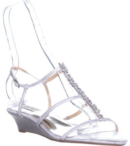 Badgley Mischka Silver Wedges