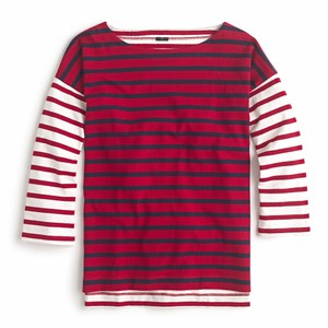 J.Crew Striped Cotton Oversized Knit T Shirt Multicolor