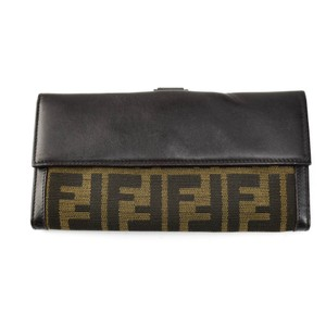 "Fendi Leather & ""FF"" Logo, Long Folding (pu)"