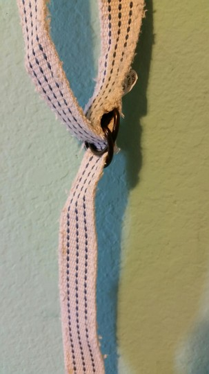 Unknown Blue and White Cloth Belt