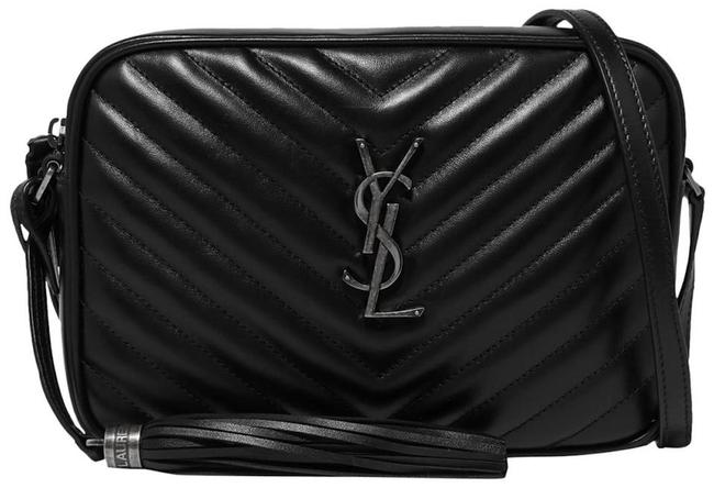 Item - Camera New Ysl Quilted Purse Black Leather Cross Body Bag