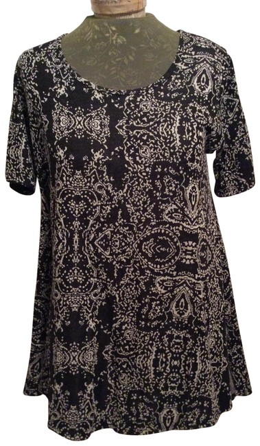 Item - Black with White Pattern Irma Rn#142161 Tunic Size 6 (S)