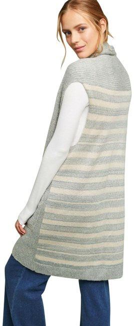 Item - Blue New Striped Knit By Do Everything In Love O/S All Vest Size OS (one size)
