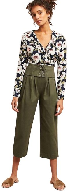 Item - Green New Anthropologie Corseted Cropped Pants Size 2 (XS, 26)