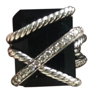 David Yurman Onyx Diamond Cable Ring