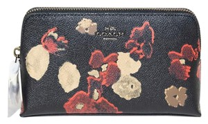 Coach Floral Pattern Cosmetics Case Pouch