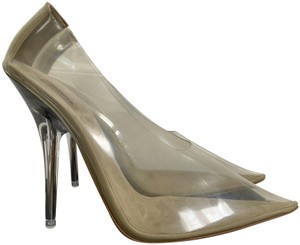 YEEZY Pointed Toe Pvc Lucite Clear Pumps