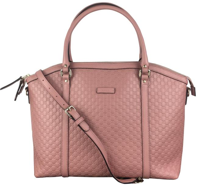 Item - Dome Gg ssima Leather with Strap Pink Satchel