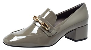 Burberry Patent Leather Loafer Grey Pumps