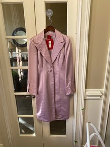 JS Collections Lavendar Sateen Polyester Sheath Jacket - Modest Bridesmaid/Mob Dress Size 12 (L)