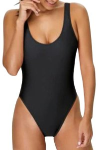 Mossimo Women's High Leg Scoop Back One Piece - Mossimo Black - L