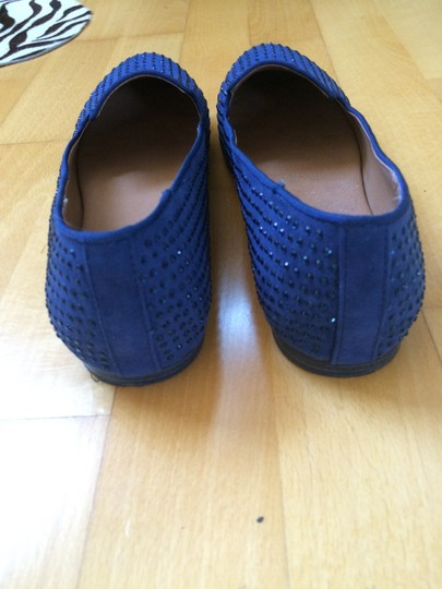 Mia Shoes Studded Nautical Blue Flats