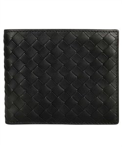 Bottega Veneta Bottega Veneta Black Leather Bifold Wallet Card Case