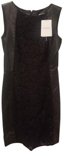 Valentino Evening Sleeveless Leather Lace Party Dress