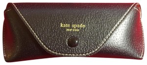 KATE SPADE KATE SPADE Black Leather Eyeglasses Snap Case