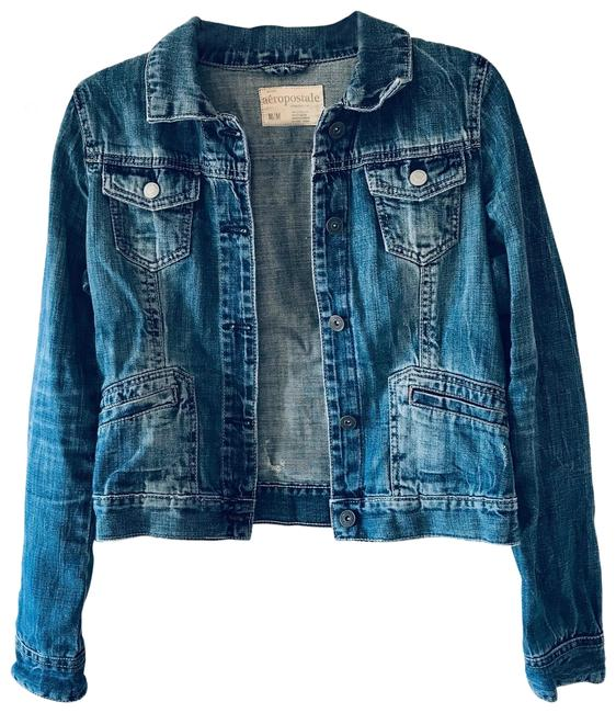 Item - Denim Distressed Jean Jacket Size 8 (M)