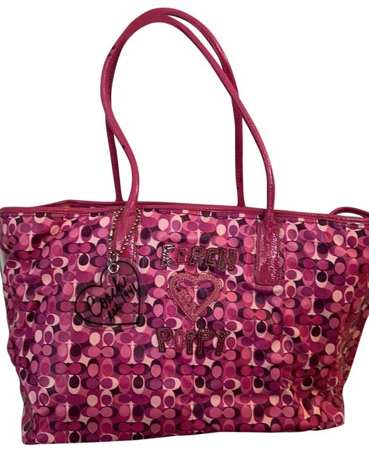 Item - Loves Poppy Pink and Purple Tote