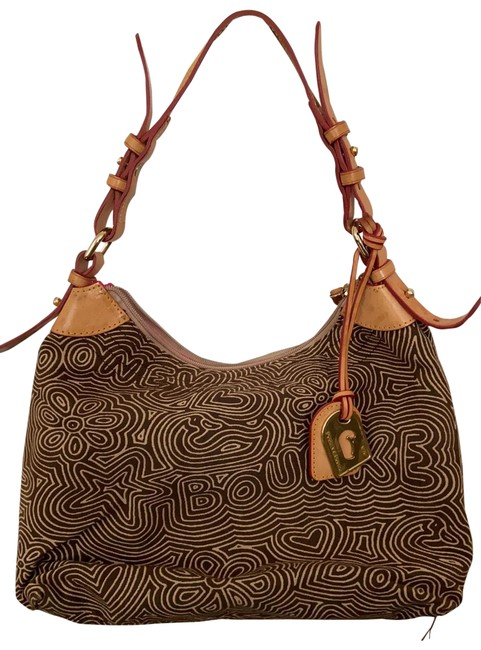 Item - And Swirl Brown Canvas Hobo Bag