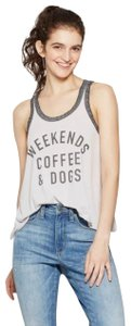 Fifth Sun Women's Weekends Coffee & Dogs Graphic Tank Top - Fifth Sun - Gray S