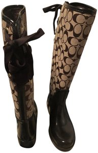 Coach Rainboot Brown Boots