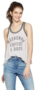 Fifth Sun Women's Weekends Coffee & Dogs Graphic Tank Top