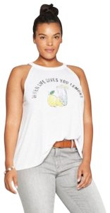 Modern Lux Women's When Life Gives You Lemons High Neck Graphic Tank