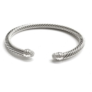David Yurman GORGEOUS!!! LIKE NEW!! David Yurman Pave Diamond Classic Cable Bracelet
