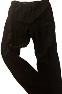 The Row Premium Chic Night Out Pleated Comfortable Trouser Pants Black